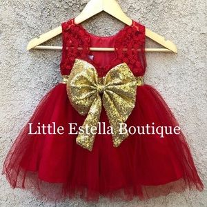Other - NWT Girls Red Formal Party Boutique Dress